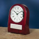 Piano Wood Clock with Curved Profile Achievement Awards